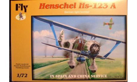 Штурмовик Хеншель Hs-123A (China,Hispany) 1:72 Fly, сборные модели авиации, scale72, Henschel