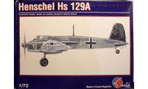 штурмовик Хеншель Hs-129A 1:72  Pavla, сборные модели авиации, Henschel, scale72