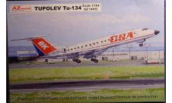 Пассажирский самолет Ту-134 Аэрофлот 1:144 AZ model