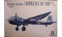 Бомбардировщик Юнкерс Ju 188A-2/E-1 1:72 Italeri, сборные модели авиации, Junkers, scale72