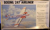Пассажирский самолет Boeing 247  1:72 Williams brothers, сборные модели авиации, 1/72