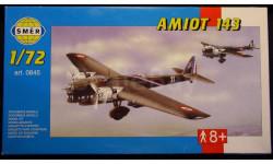 Бомбардировщик Amiot 143 1:72 Heller/Smer, сборные модели авиации, 1/72