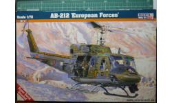 вертолет Agusta Bell AB-212 1:72 Mistercraft, сборные модели авиации, 1/72