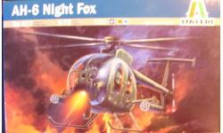 Боевой вертолет Hughes AH-6A Night Fox 1:72 Italeri, сборные модели авиации, 1/72