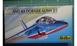Учебно-боевой самолет Alpha Jet 'Patroulle de France'  1:72 Heller