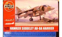 Штурмовик ВВП AV-8A Harrier 1:72 Airfix (NEW), сборные модели авиации, 1/72