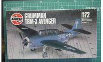 Палубный торпедоносец  Avenger TBM-3 1:72 Airfix, сборные модели авиации, 1/72