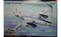 бомбардировщик B-45C Tornado 1:72 Valom, сборные модели авиации, 1/72