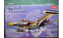 Палубный истребитель F2H-3/4 Banshee 1:72 Academy, сборные модели авиации, scale72