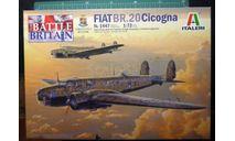 Бомбардировщик Fiat BR.20/20M  CICOGNA 1:72 Italeri, сборные модели авиации, scale72