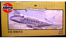 пассажирский самолет DH Heron MkII  1:72 Airfix, сборные модели авиации, scale72