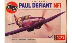 истребитель Boulton Paul Defiant NF.1 1:72 Airfix, сборные модели авиации, 1/72
