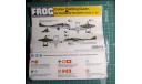 истребитель DH-100  Vampire  1:72  FROG, сборные модели авиации, De Havilland, scale72