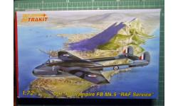 Истребитель DH-100 Vampire  FB Mk5 1:72 Xtrakit (ex-MPM)