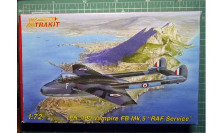 Истребитель DH-100 Vampire  FB Mk5 1:72 Xtrakit (ex-MPM), сборные модели авиации, scale72