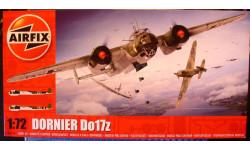 бомбардировщик Дорнье Do 17Z 1:72 Airfix (NEW!), сборные модели авиации, 1/72