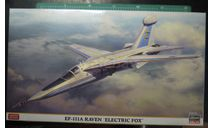 самолет РЭБ EF-111A Raven 'Electric Fox' (F-111A) 1:72 Hasegawa, сборные модели авиации, scale72