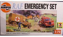 Санитарная+пожарная машины RAF WW II 1:72 Airfix, сборные модели авиации, 1/72