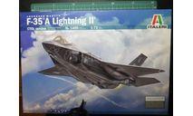 истребитель F-35A Lightning II 1:72 Italeri, сборные модели авиации, scale72