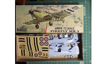 палубный истребитель Fairey Firefly MkV 1:72 Airfix, сборные модели авиации, scale72