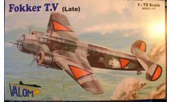 бомбардировщик Fokker T.V (поздний) 1:72 Valom, сборные модели авиации, 1/72
