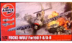 истребитель Фокке-Вульф FW 190F-8/A-8  1:72 Airfix, сборные модели авиации, 1/72