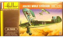 истребитель Фокке-Вульф FW-56 Stosser 1:72 Heller, сборные модели авиации, Focke Wulf, scale72