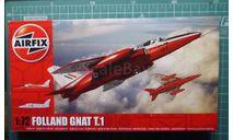 учебный самолет Folland Gnat T.1 1:72 Airfix, сборные модели авиации, 1/72
