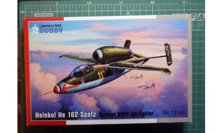 истребитель Хейнкель He 162A Spatz 1:72 Special Hobby, сборные модели авиации, Heinkel, scale72