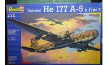 бомбардировщик Хейнкель He 177A-5 Greif  & Fritz X 1:72 Revell, сборные модели авиации, scale72, Heinkel
