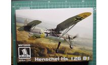Разведчик-корректировщик Hs 126B-1  1:72 Brengun, сборные модели авиации, scale72, Henschel