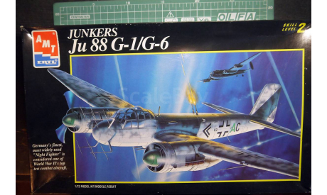 ночной перехватчик Юнкерс Ju 88G-1/G-6  1:72 AMT, сборные модели авиации, Junkers, scale72