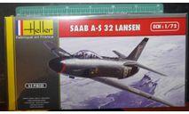 Бомбардировщик SAAB A-S.32 Lansen 1:72 Heller, сборные модели авиации, scale72