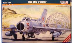 истребитель МиГ-19С 1:72 Mistercraft, сборные модели авиации, scale72
