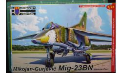 ударный самолет  МиГ-23БН  (Варшавский Договор)1:72 KP