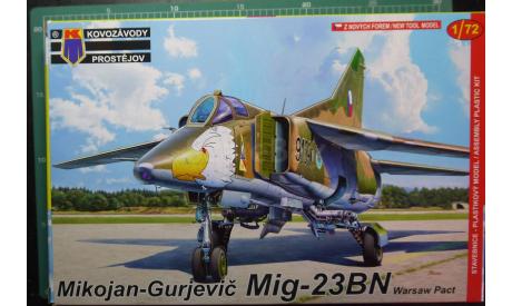 ударный самолет  МиГ-23БН  (Варшавский Договор)1:72 KP, сборные модели авиации, Kovozavody Prostejov, scale72
