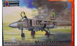 истребитель  МиГ-23МЛ 1:72  KP, сборные модели авиации, Kovozavody Prostejov, scale72