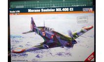 истребитель Моран MS 406C1 1:72 Mistercraft/Heller, сборные модели авиации, scale72