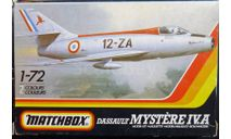 Истребитель Dassault Mystere IVA 1:72 Matchbox, сборные модели авиации, scale72