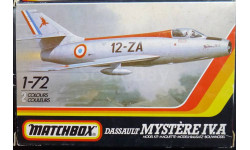 Истребитель Dassault Mystere IVA 1:72 Matchbox, сборные модели авиации, 1/72