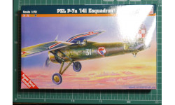 Истребитель PZL P-7a  1:72 Mastercraft