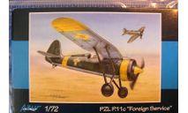 истребитель PZL P-11c (за рубежом) 1:72 Azur, сборные модели авиации, 1/72