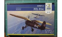 истребитель PZL P-11C (Expert set)   1:72 Arma Hobby, сборные модели авиации, ArmaHobby, scale72