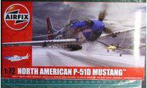 Истребитель P-51D Mustang 1:72 Airfix NEW!, сборные модели авиации, 1/72