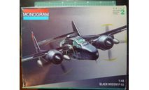 ночной перехватчик P-61 Black Widow 1:48 Monogram, сборные модели авиации, scale48
