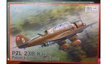Бомбардировщик PZL P-23B Karas  1:72 IBG (!!!NEW !!!), сборные модели авиации, scale72