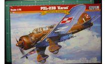 Бомбардировщик PZL P-23 Karas  1:72 Mastercraft/Heller, сборные модели авиации, scale72