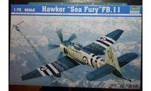палубный истребитель Hawker Sea Fury  FB.11  1:72 Trumpeter, сборные модели авиации, scale72