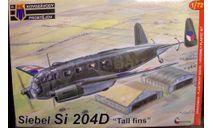 Siebel Si-204D 1:72 KP, сборные модели авиации, Kovozavody Prostejov, 1/72