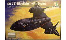 стратегический разведчик SR-71A Blackbird + D-21 1:72 Italeri, сборные модели авиации, scale72